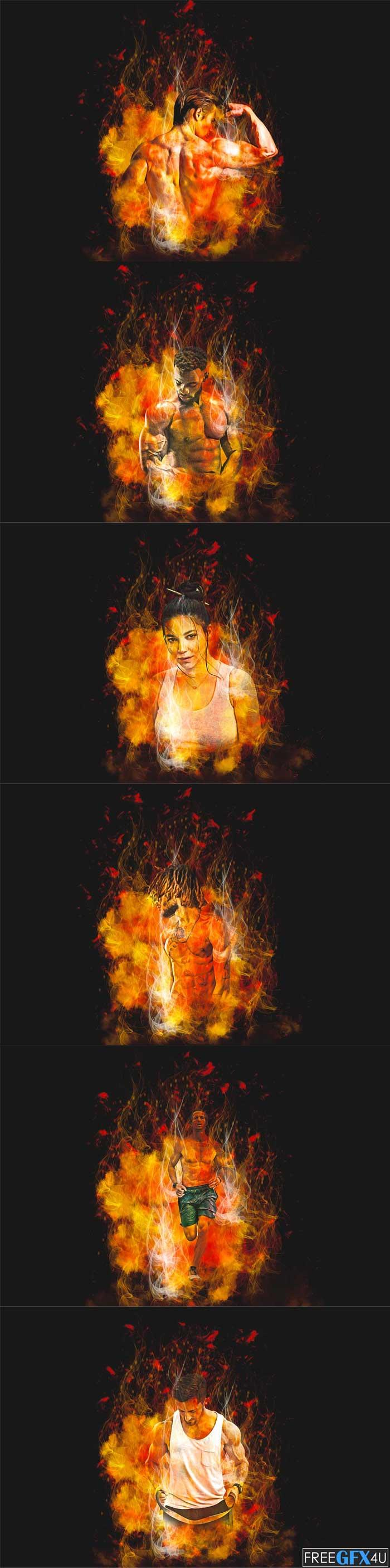 Burning Effect Photoshop Action