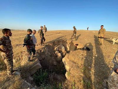 قوات الحشد الشعبي تدمر مضافة لداعش وتعالج أربع عبوات ناسفة جنوب غرب كركوك