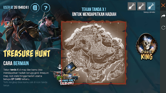 Cara Bermain Event Elite Pass Gratis Ghost Pirate Treasure Hunt dan Pirate King