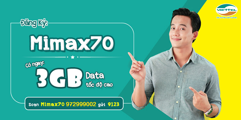Gói cước 3G/4G MIMAX70 Viettel