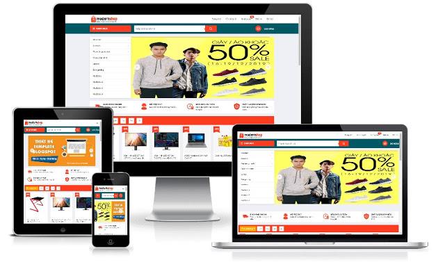 Free Template Blogger ModernShop