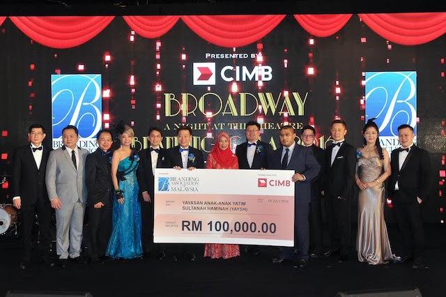 The Branding Association of Malaysia contributed a small token of appreciation to Her Majestic Raja Permaisuri Agong Tuanku Hajah Haminah's foudations, Yayasan Anak-Anak Yatim Sultanah Haminah.