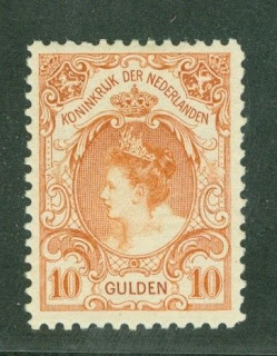 1899-1905 Queen Wilhelmina 10 Guilders