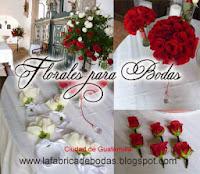 Decoracion arreglos florales para bodas rojo cristales guatemala