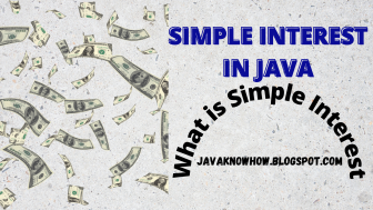 simple interest in java | what is simple interest | ICSE computer science question