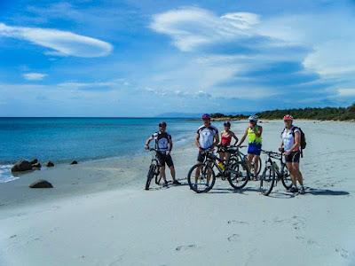 cycling Orosei gulf in Sardinia island Italy carbon road bike mtb ebike rental