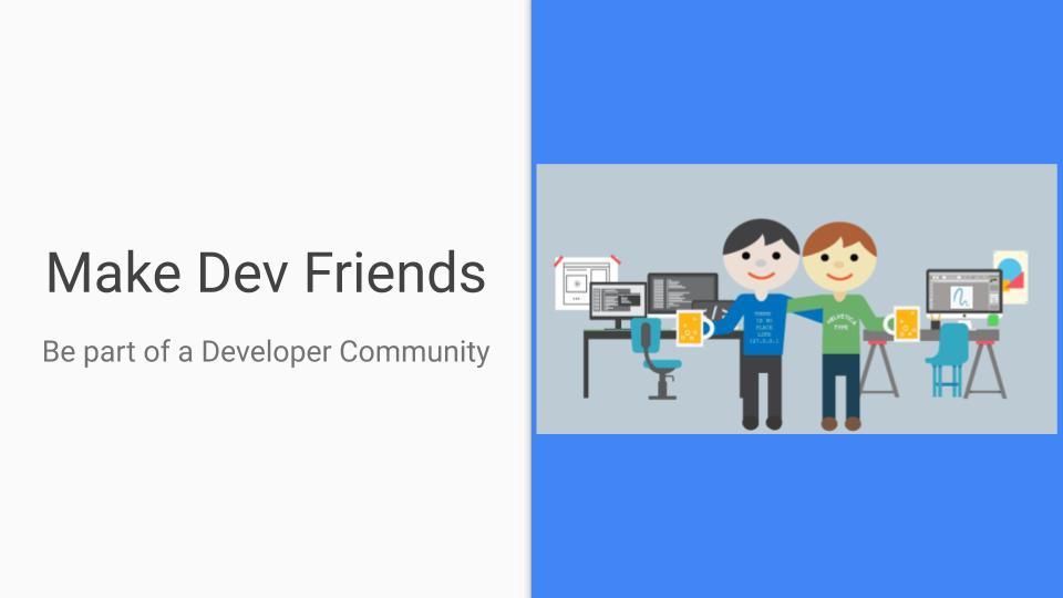be part of developer community