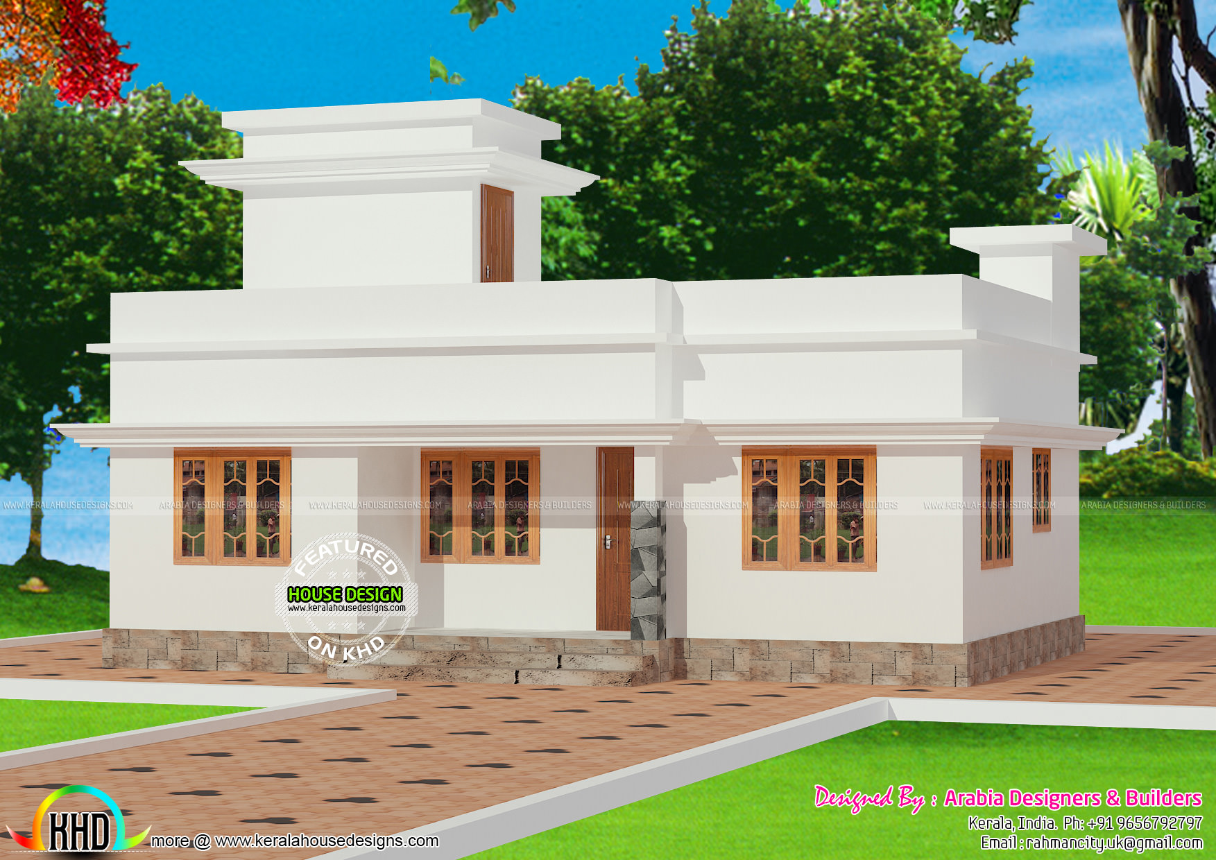 Gandul lakh kerala house plan for New model veedu photos