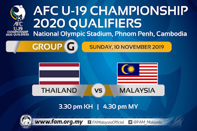 Live Streaming Thailand U19 vs Malaysia U19 (10.11.2019)