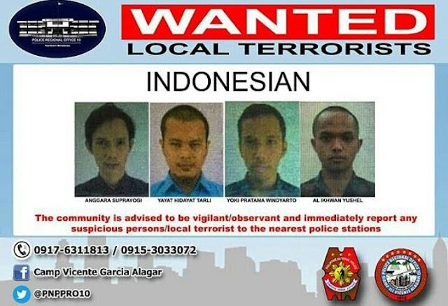Empat WNI Terduga Teroris Masuk DPO Kepolisian Filipina