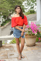 Rhea Chakraborty in Red Crop Top and Denim Shorts Spicy Pics ~  Exclusive 091.JPG