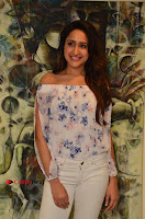 Actress Pragya Jaiswal Latest Pos in White Denim Jeans at Nakshatram Movie Teaser Launch  0073.JPG
