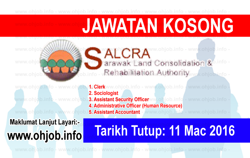 Jawatan Kerja Kosong Sarawak Land Consolidation and Rehabilitation Authority (SALCRA) logo www.ohjob.info mac 2016