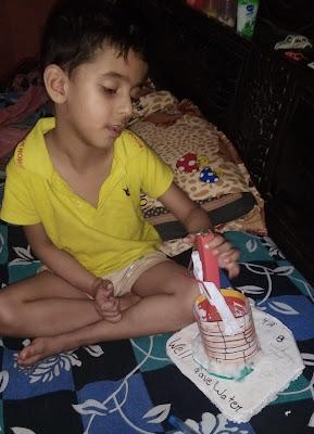 Children making craft
