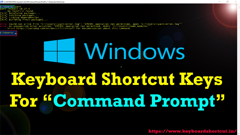 Keyboard Shortcut Keys For Command Prompt (CMD) - Keyboard Shortcut Keys