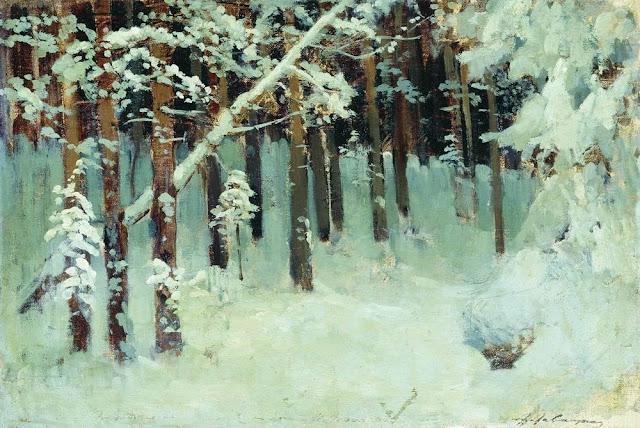 Исаак Ильич Левитан - Лес зимой. 1880-е