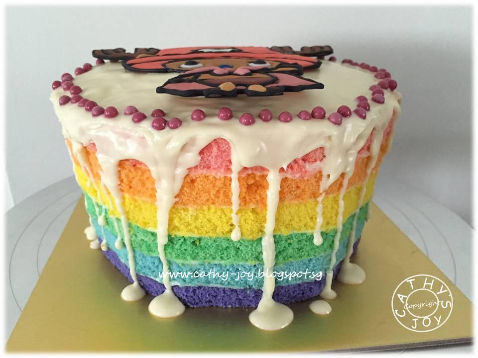 Rainbow Cake Recipe Joy Of Baking: Cathy's Joy: 'One Piece' Chopper Rainbow Cake