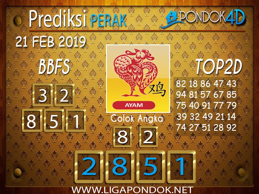 Prediksi Togel PERAK PONDOK4D 21 FEBRUARI 2019
