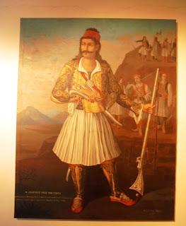 το έργο Οδυσσέας Ανδρούτσος του Δεσύλλα Κοζή στο Μουσείο Μπενάκη