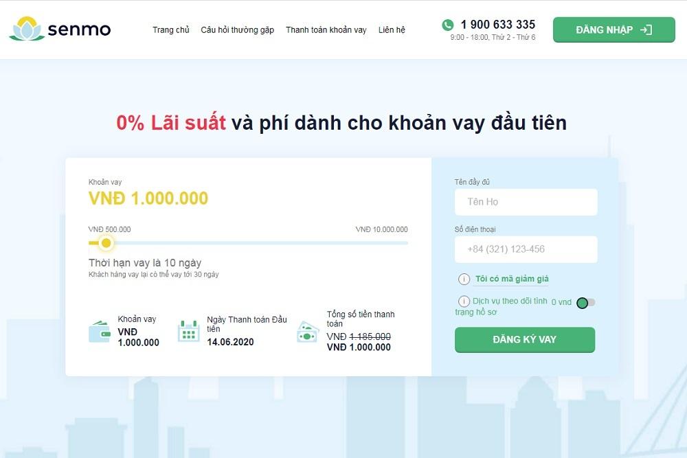 Senmo: Vay tiền nhanh online 0% lãi suất & phí chỉ với CMND