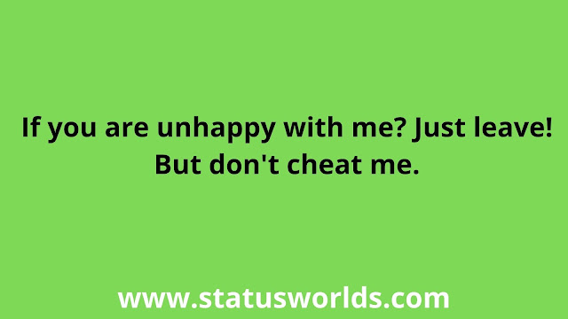 Cheat Status and Quotes