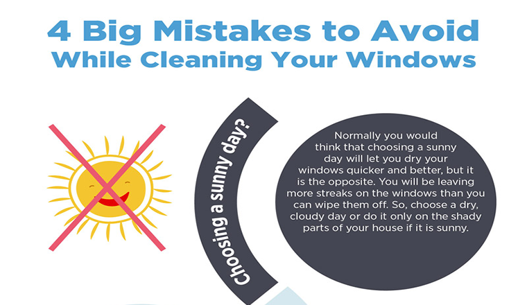 4 Big Mistakes to Avoid While Cleaning Your Windows #infographic