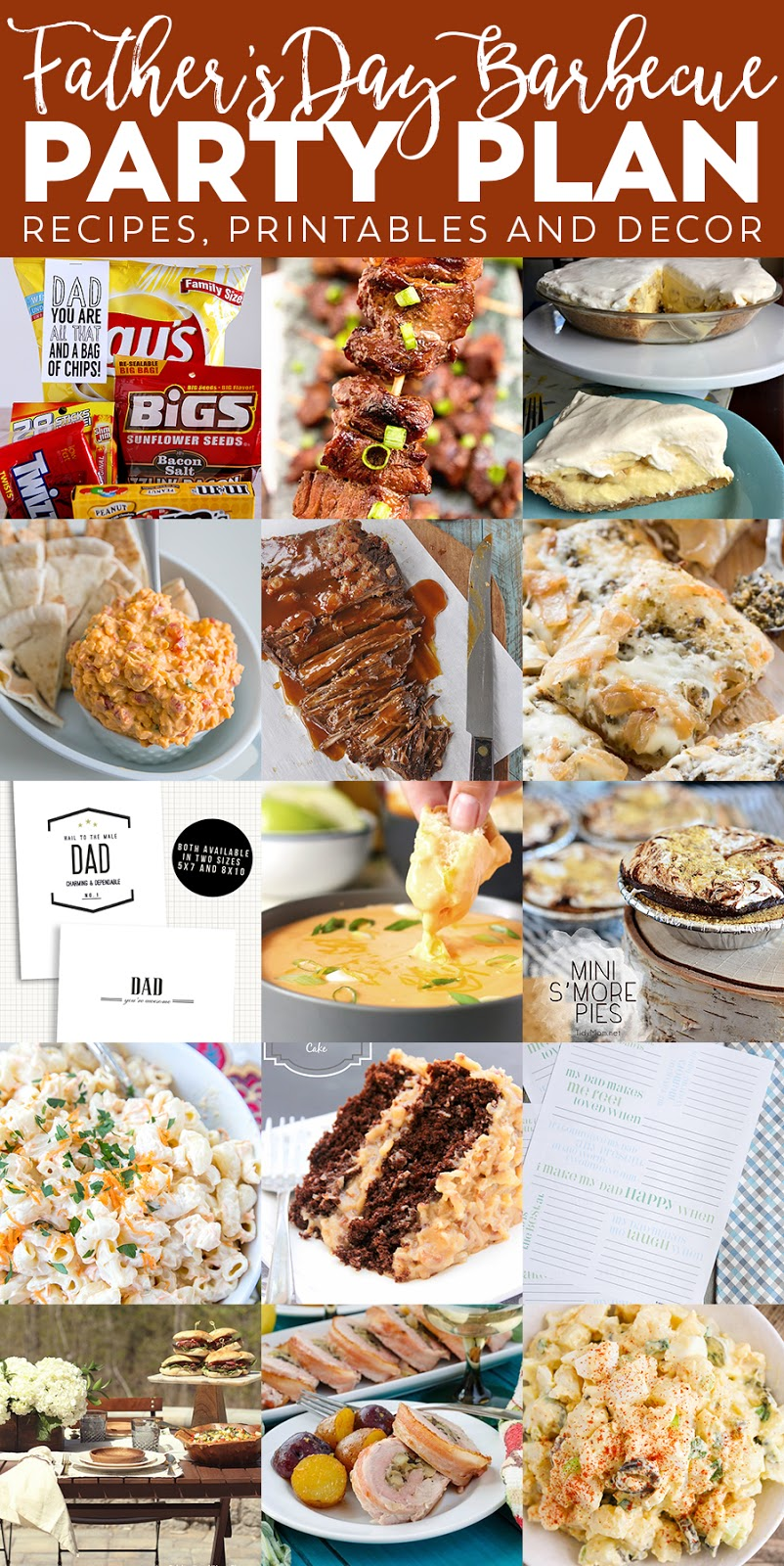 This Father's Day barbecue party plan has everything you need to make it a spectacular day for Dad! From recipes to printables and decor, we've got you covered!