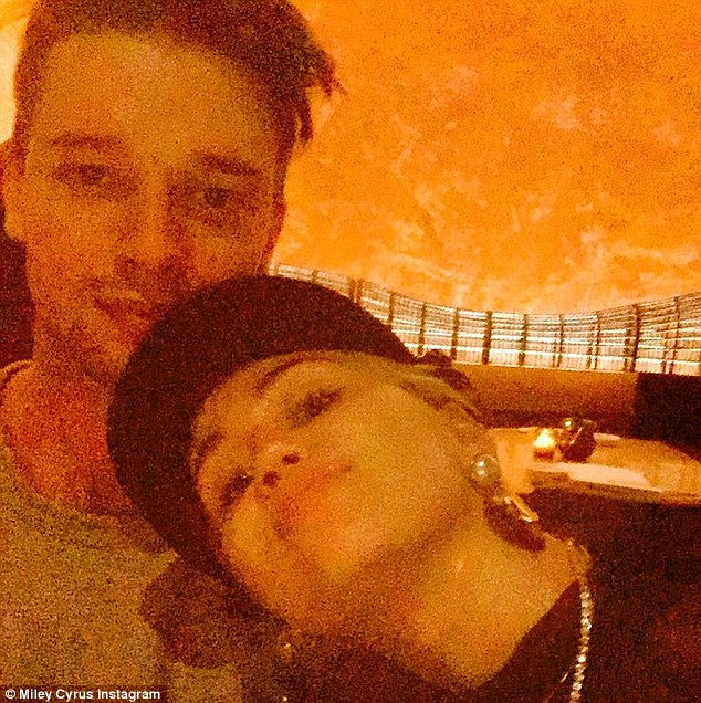 Miley Cyrus and Patrick Schwarzenegger on Valentine's Day