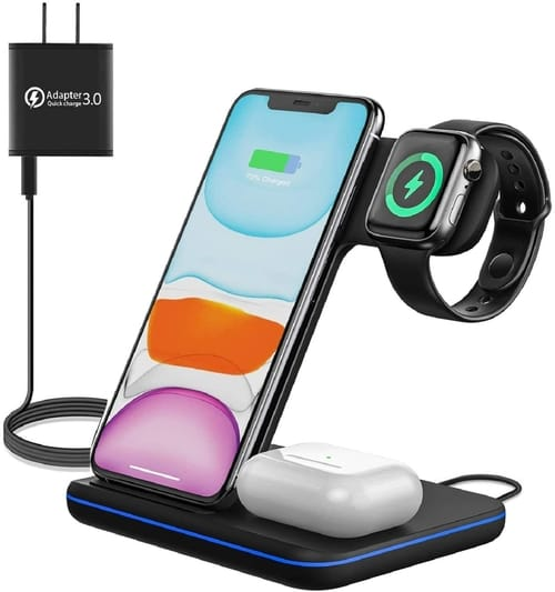 MOING GY-Z5C 3-in-1 Station Wireless Charger Stand