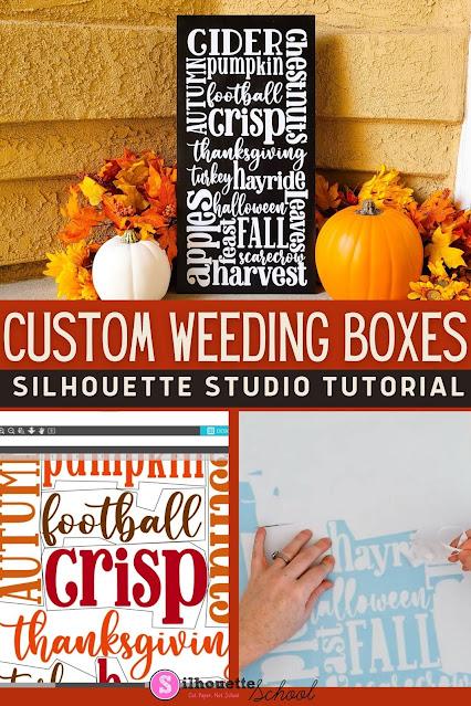 Silhouette 101, Silhouette America Blog, Weeding Boxes, adhesive vinyl, halloween wood sign