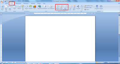 Cara Membuat Header Footer Di word 2007