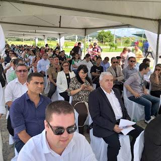 Acompanhado do prefeito em exercício de Guarabira PB, Marcus Diogo Raimundo Macedo prestigia inauguração do IFPB em GBA.