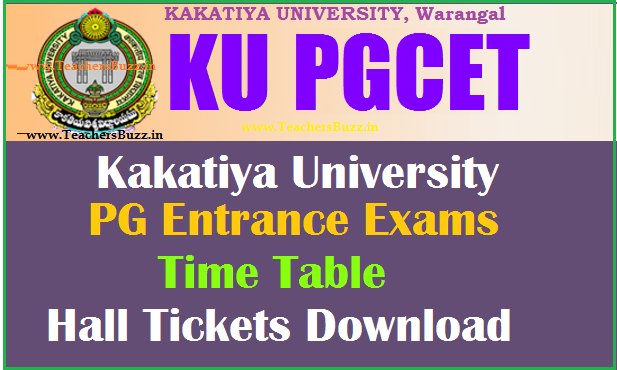 ku warangal pgcet 2014 hall ticket