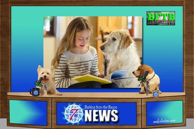 BFTB NETWoof News reports on children reading to shelter dogs