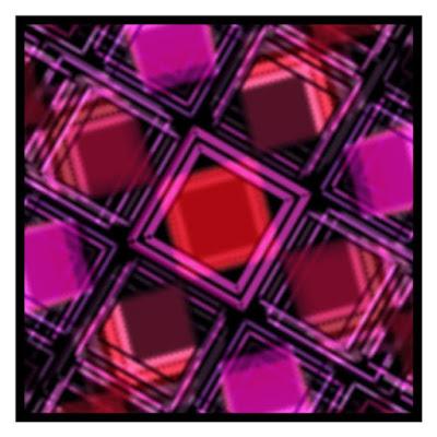 Generative art example : Cut glass.