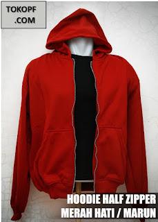 Jaket Polos Warna Merah Hati atau Merah Marun