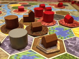 Terra Mystica board during a game
