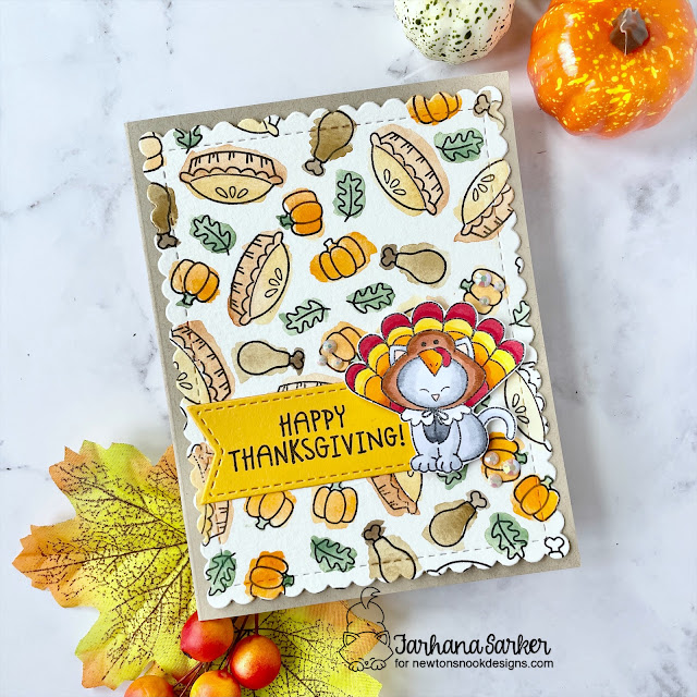 Thanksgiving placecards by Amanda Wilcox | Talk Turkey Stamp Set Excludsive Collaboration Stamp Set for Simon Says Stamp by Newton's Nook Designs #newtonsnook #handmade