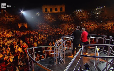 Amadeus ascolti TV Arena Suzuki 60 70 80 Verona 25 settembre