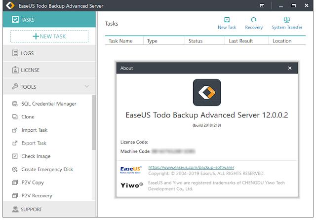 Screenshot EaseUS Todo Backup Advanced Server 12.0.0.2 Full Version