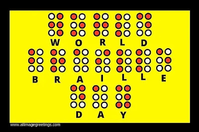 world braille day photos