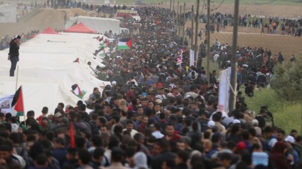 أصيب 28 فلسطينياً في مسيرة العودة الرابعة والثلاثين في غزة