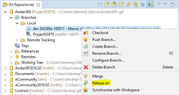 How to do Git Rebase in Eclipse