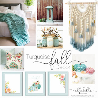 Turquoise Fall Decor Ideas   Decorate your home for the fall!