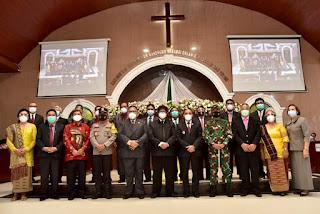 Dikukuhkan, Pdt Krismas Imanta Barus Moderamen GBKP 2020-2025, Gubernur Sumut Ucapkan Selamat Menjalankan Tugas