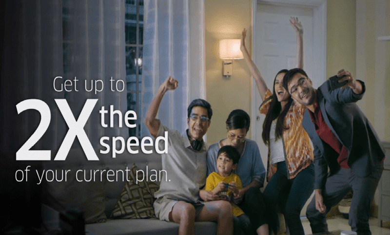 PLDT claimed that subscribers will enjoy two times faster internet
