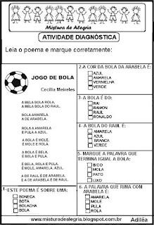 Poema jogo de bola copa