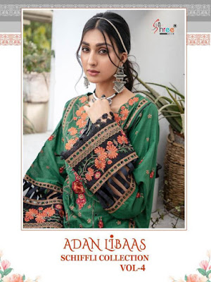 Shree Fab Adan Libas Chiffli collection vol 4 Pakistani Suits