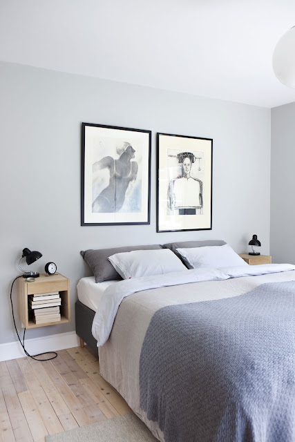 A consistent color palette goes back in all the elements of the bedroom