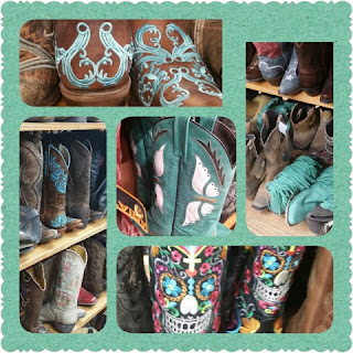 allens boots collage